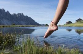 Kneipp baden in Zuid-Tirol