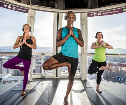 Yoga in hoogste reuzenrad in Las Vegas