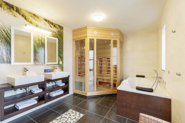 Een wellness bungalow met bubbelbad én sauna