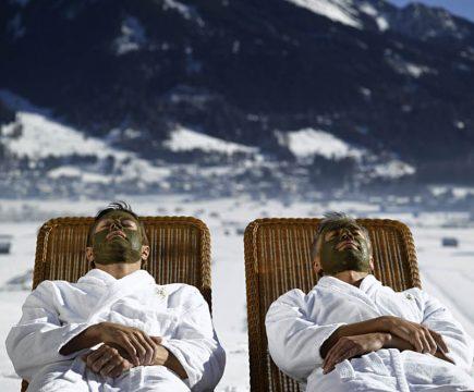 Verkwikkende Alpen-wellness voor mannen