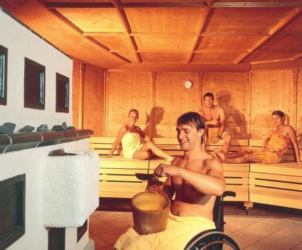 Rolstoelvriendelijke sauna's België
