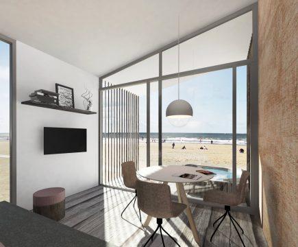 Luxe strandhuis met sauna en Jacuzzi aan zee, Kijkduin