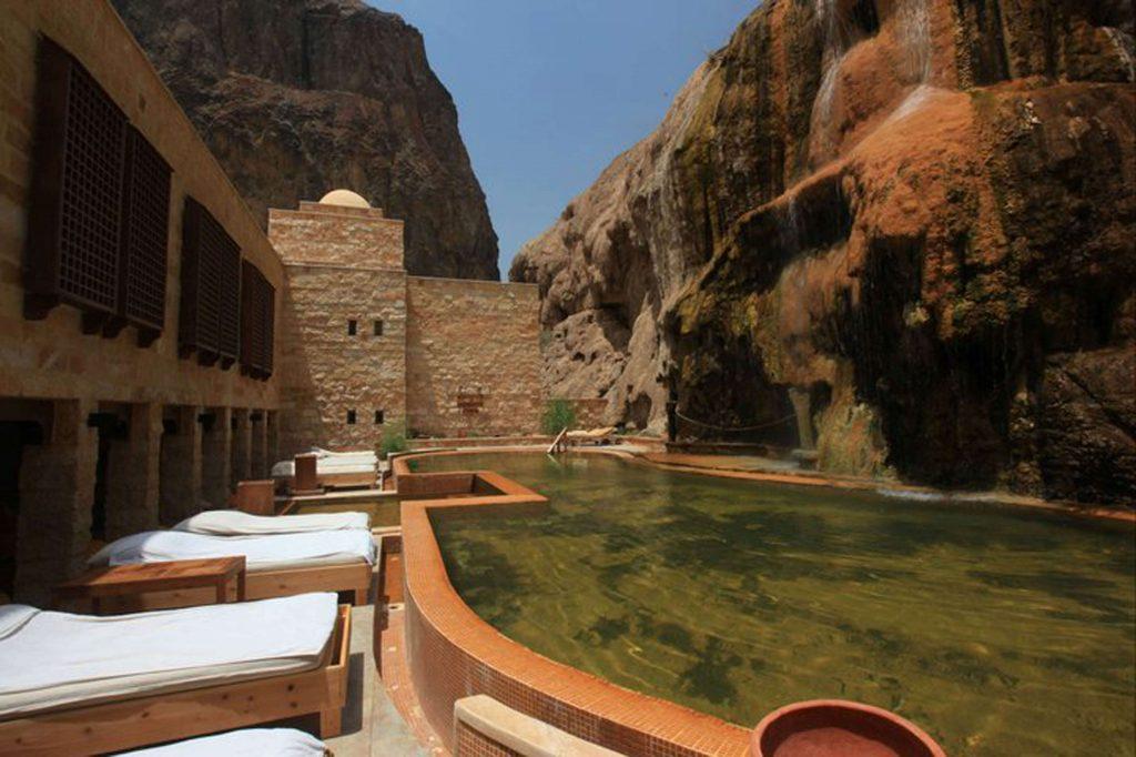 Ma in Hot Springs Jordanië