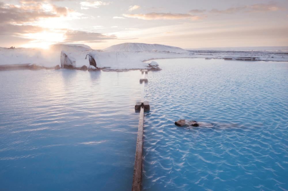 natuurlijke geothermische baden en warmwaterbronnen in IJsland - Myvatn Nature Baths