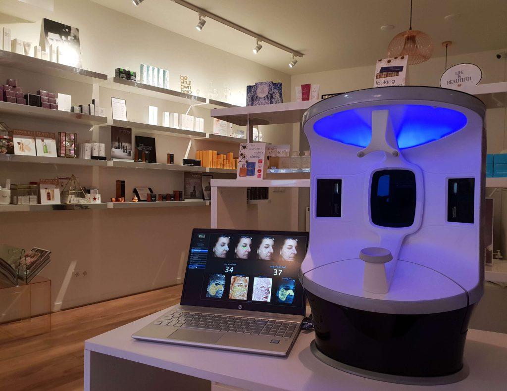 Persoonlijke huidscan en gezichtsanalyse