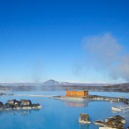 Overzicht van natuurlijke geothermische baden en warmwaterbronnen in IJsland