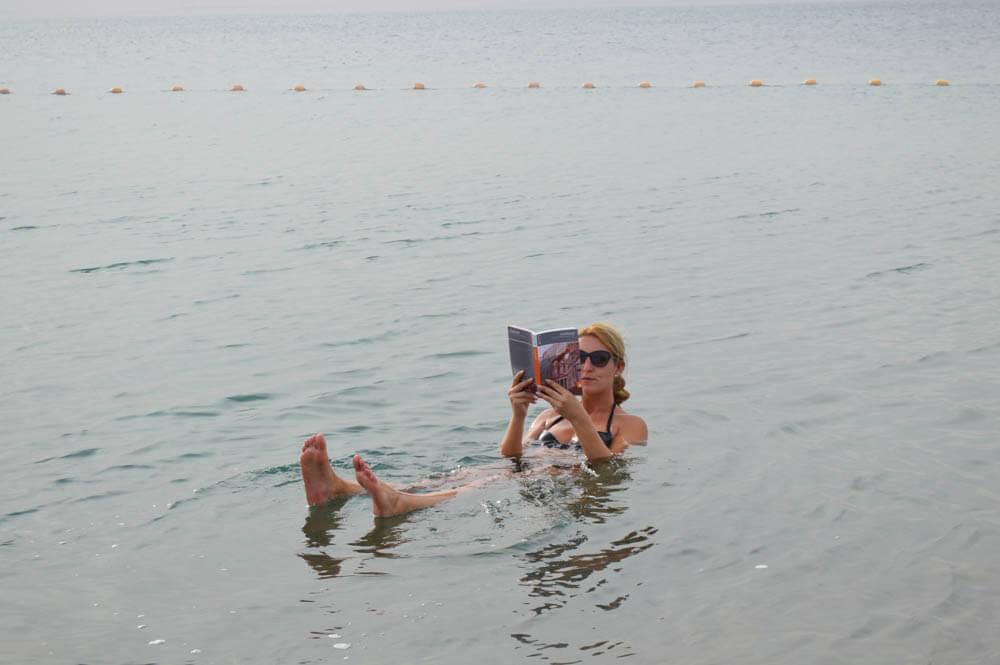 Drijven op zout water