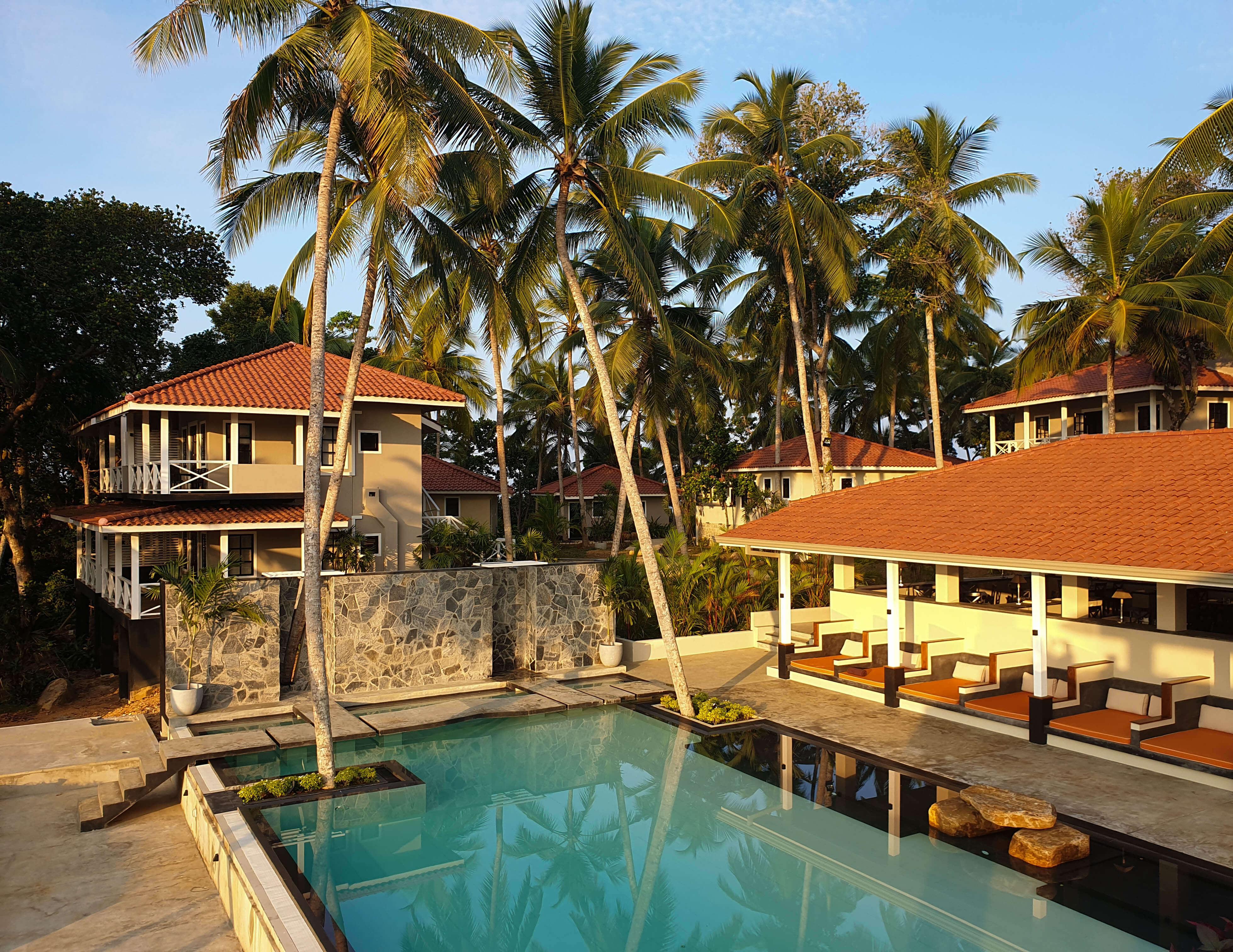 Geniet in het mooie luxe hotel Tabula Rasa net buiten Galle, Sri Lanka