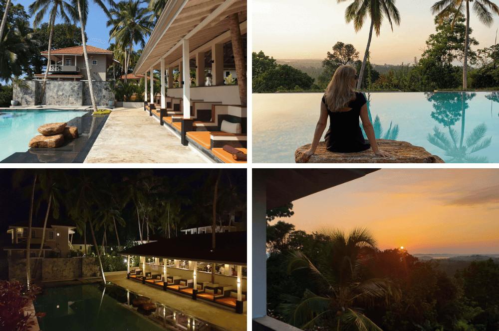 Mooi luxe hotel buiten Galle in Sri Lanka