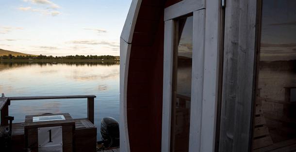 Drijvende sauna Zweden