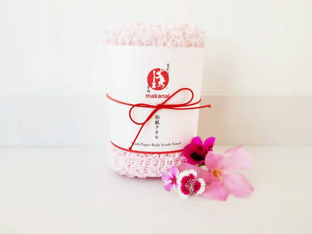 Washi Paper Body Scrub Towel van Makanai