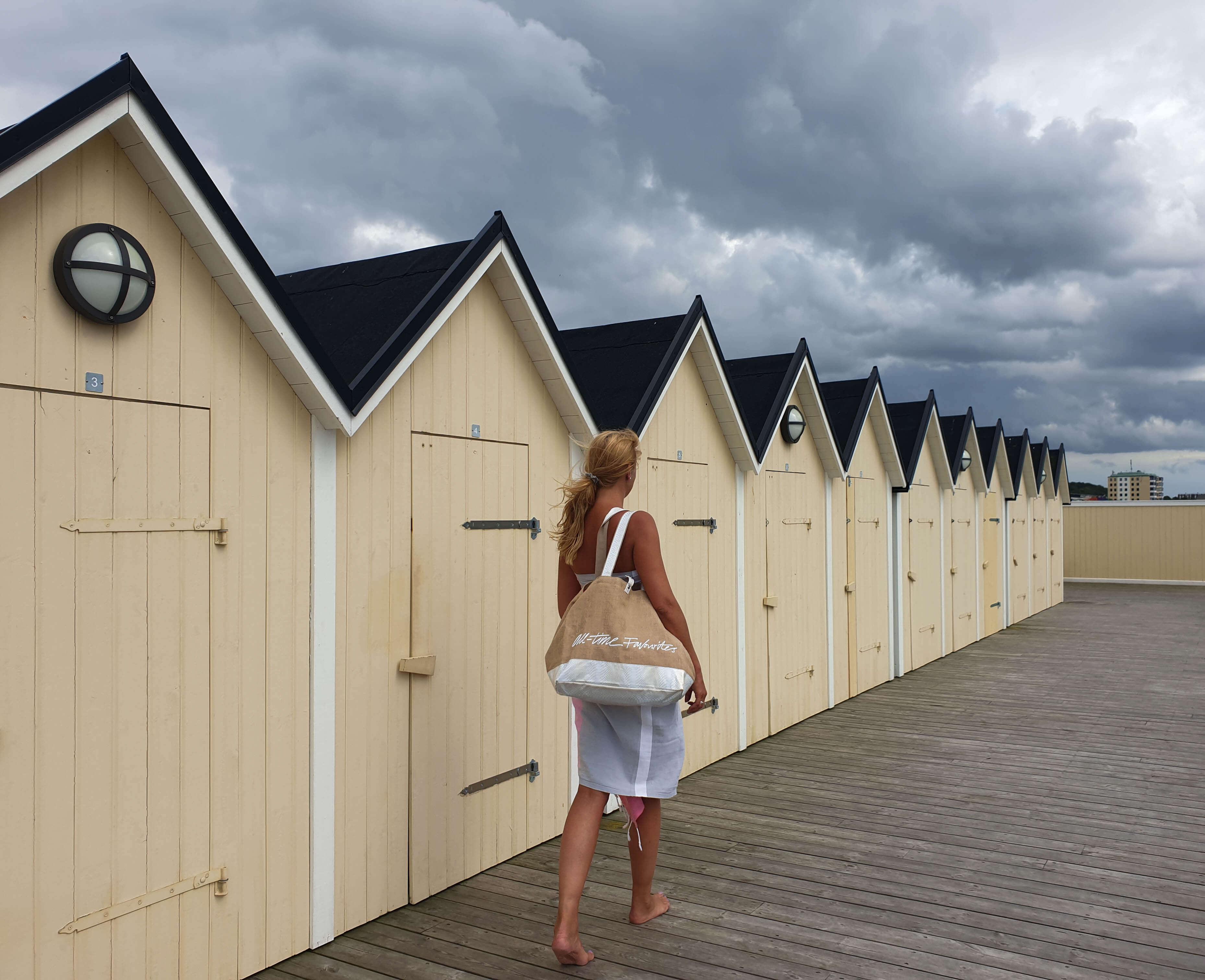 Grote sauna tas met rits en vakken