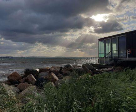 Ontspan boven zee in Kallbadhuset Kallis in Zuid Zweden
