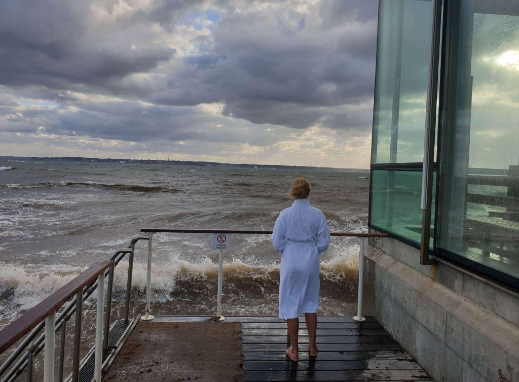 Naar de sauna in Zweden