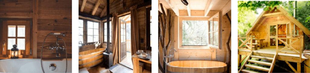Boomhut met hottub in Ardennen