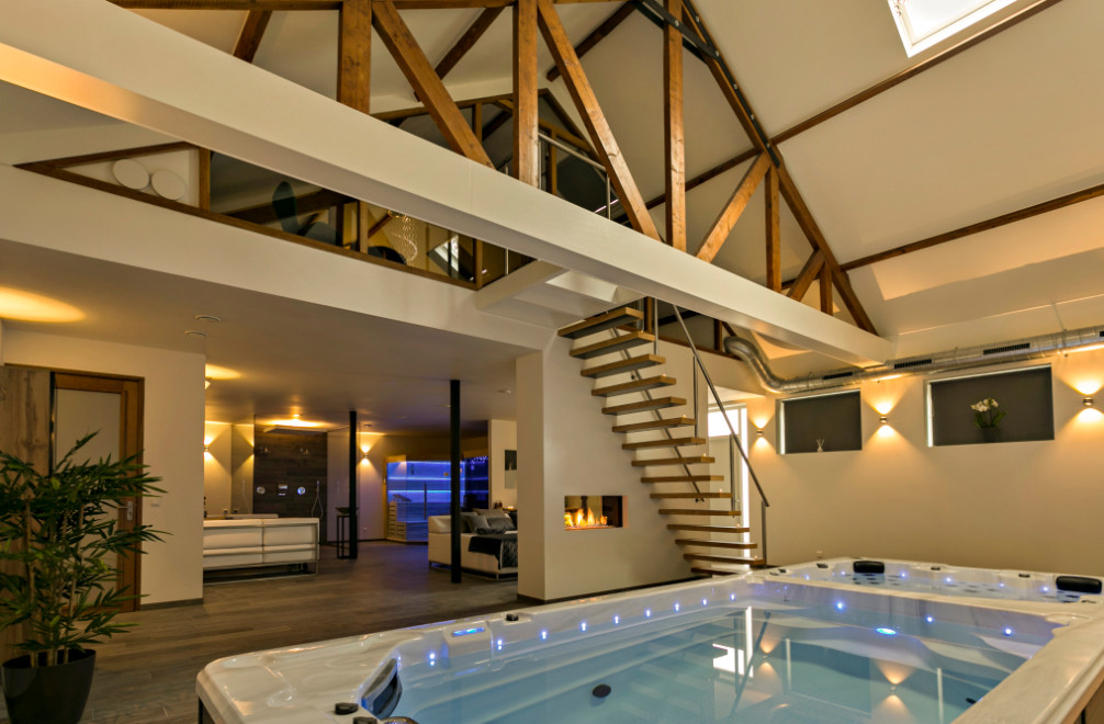 Privé sauna met spabad