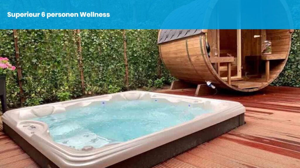 Wellness vakantiehuis met sauna en Jacuzzi buiten