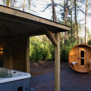 Privé wellness vakantiehuisjes met sauna en Jacuzzi