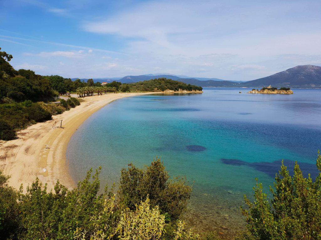 Mooiste stranden op Evia in Griekenland.