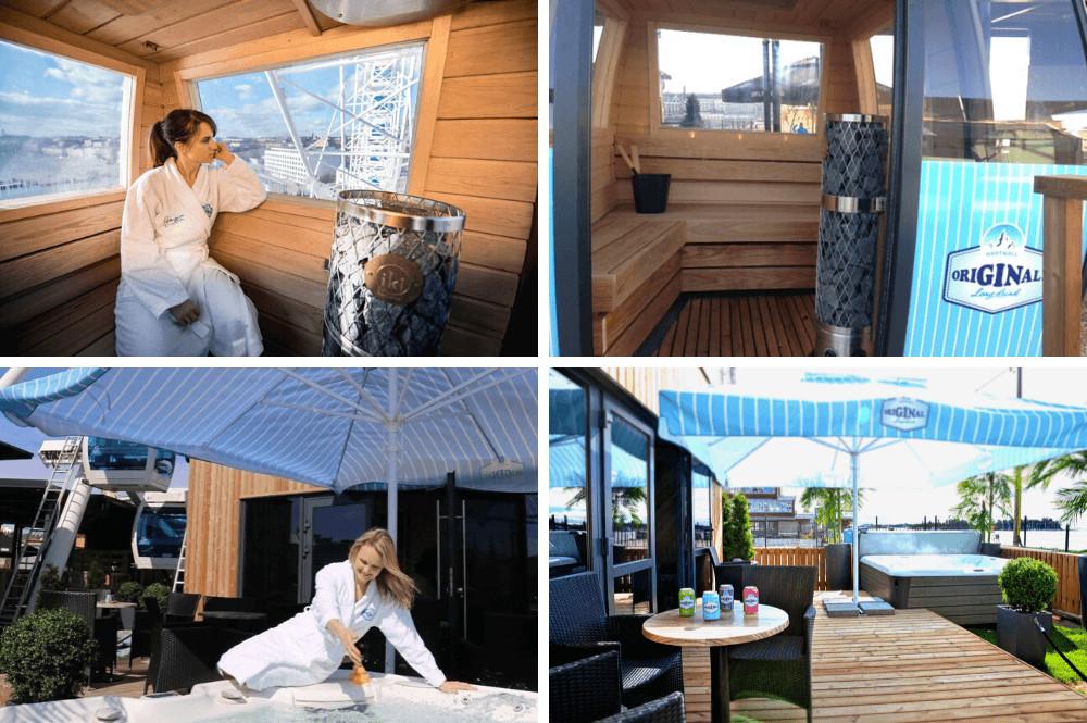 Sauna in reuzenrad in Helsinki, Finland