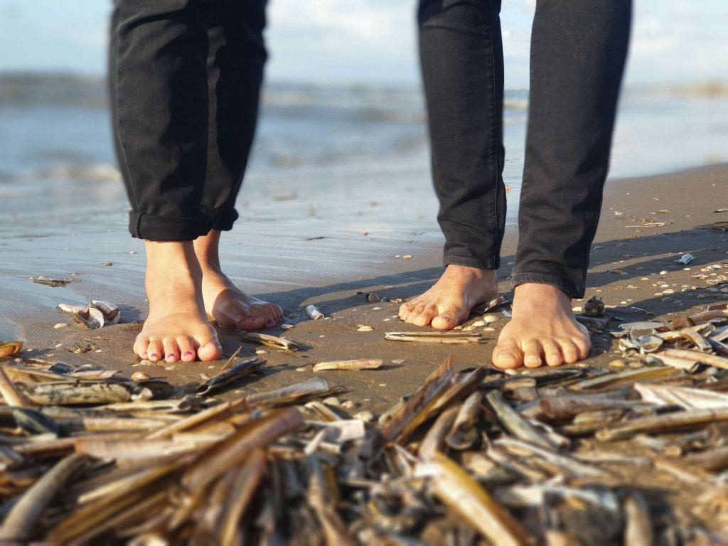 Wandelen over blote voeten paden