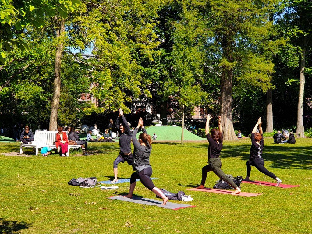 Yoga in de Paleistuin