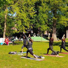 Yoga in het park Den Haag