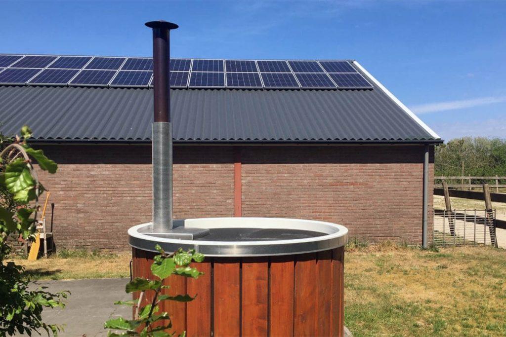 Logeren bij de boer in Drenthe met hottub