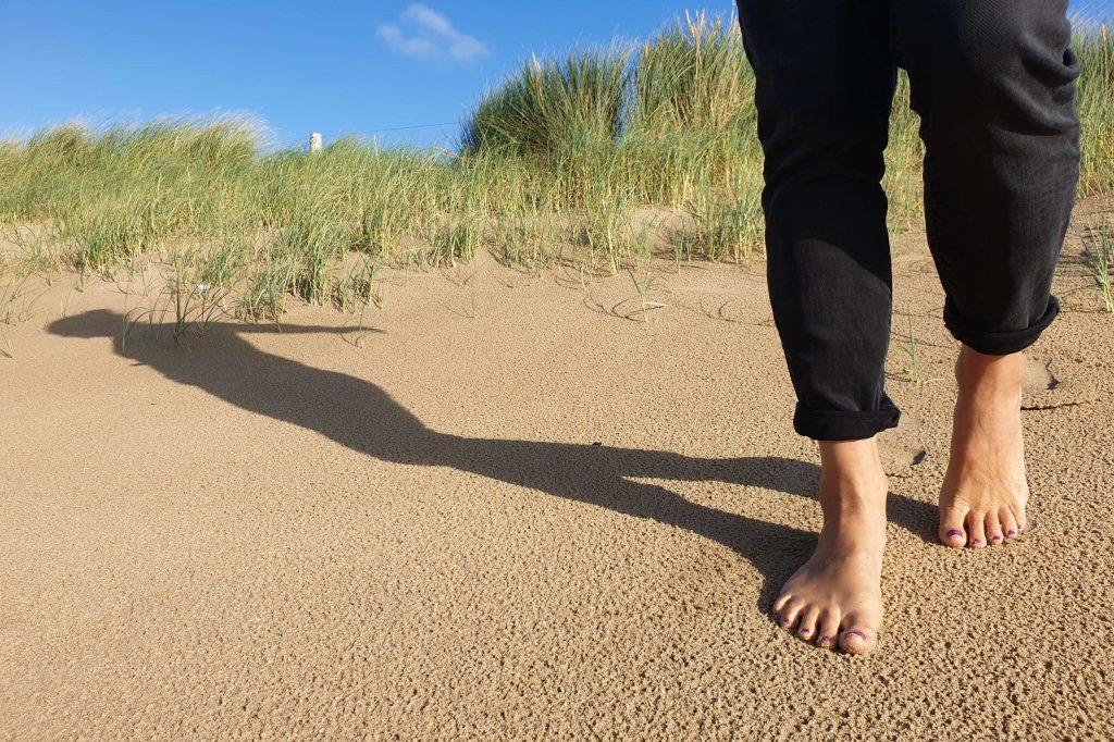 Wandelen blote voeten paden in Nederland