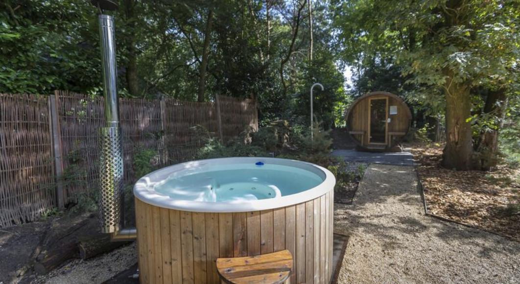 Vakantiehuis met sauna en hottub buiten op de Veluwe, Gelderland