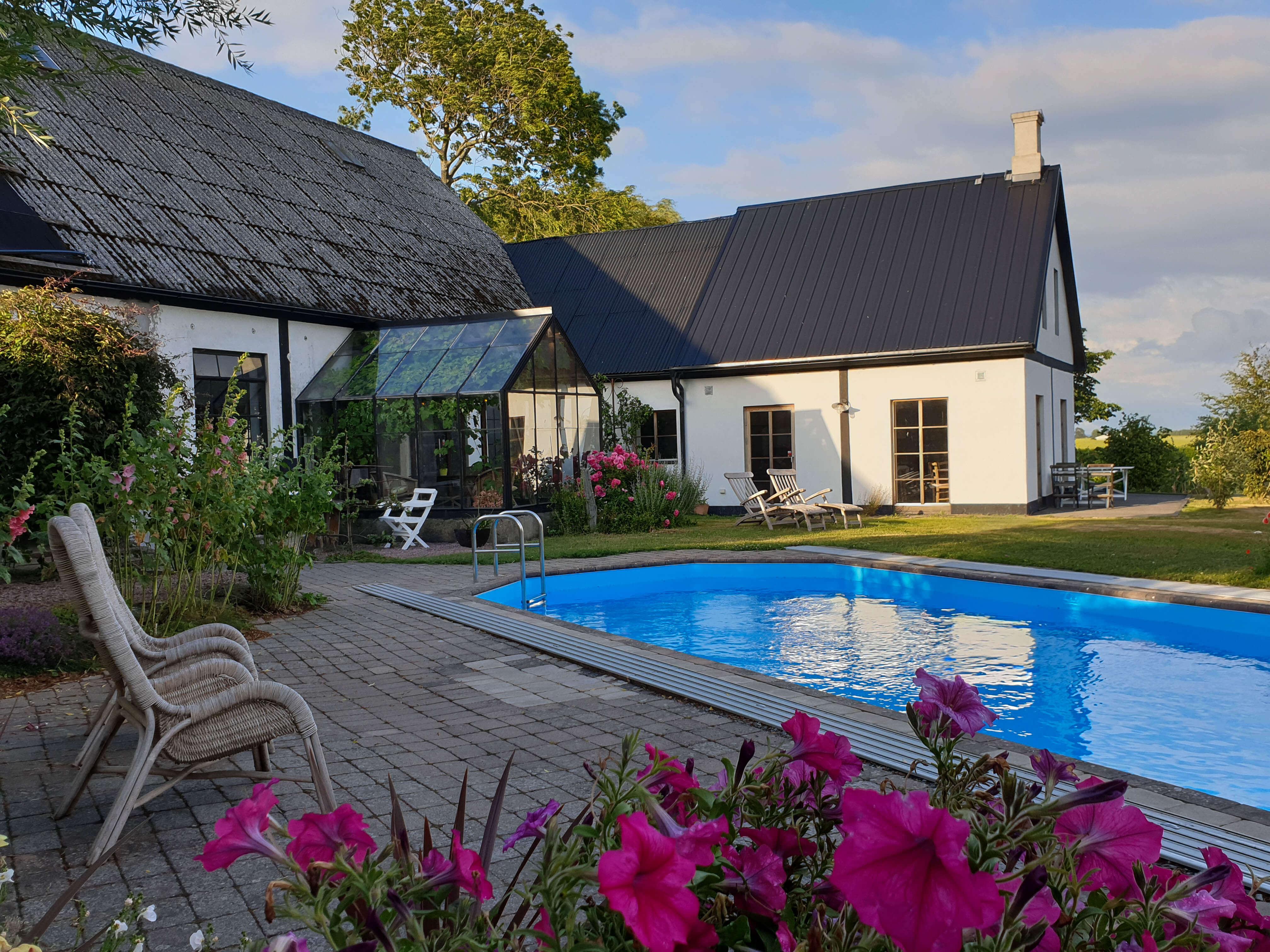 Leuke Bed & Breakfast met zwembad en sauna in Zuid Zweden