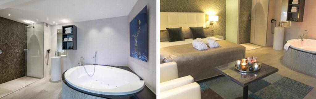 Hotel met privé zwembad op kamer