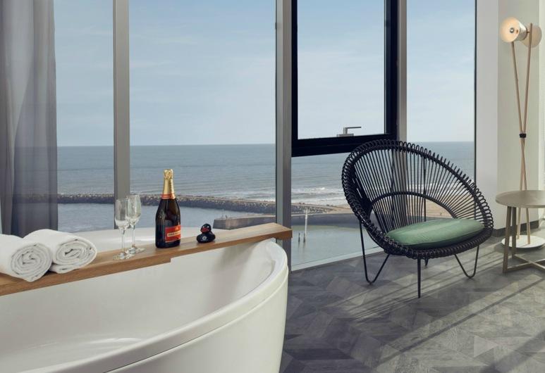 Hotel met jacuzzi op kamer aan zee