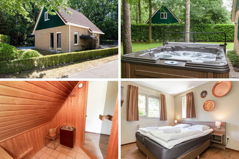 Vakantiehuisje met jacuzzibuiten en sauna binnen - 4 personen