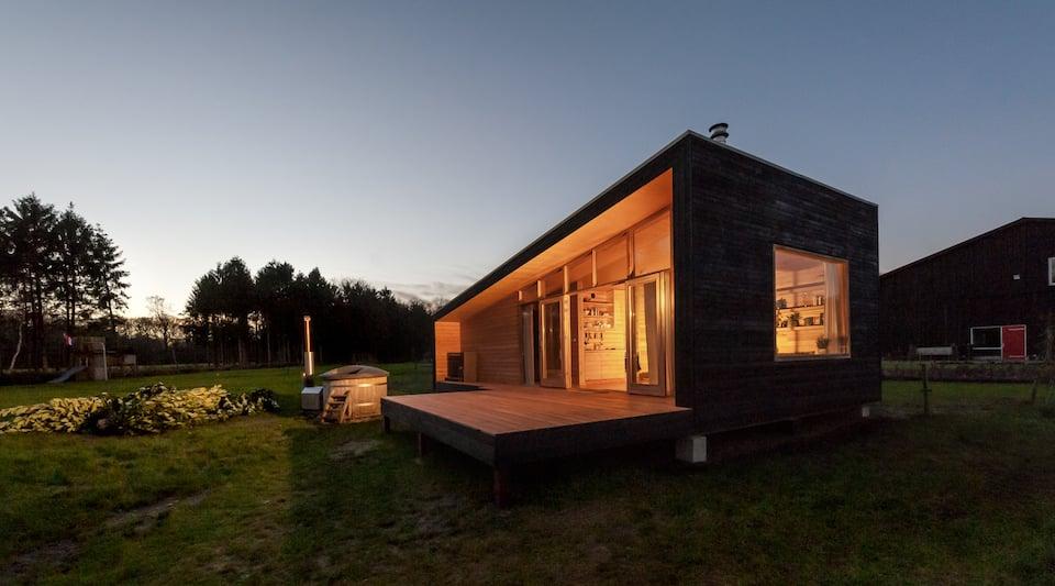 Airbnb huisje met hottub in natuur in Gelderland