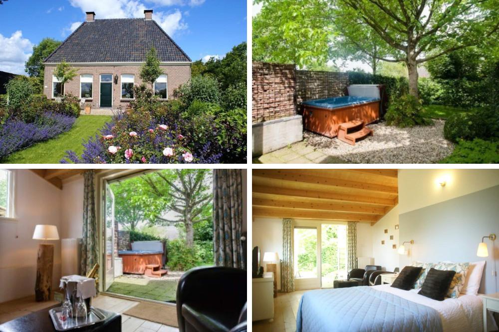 Airbnb met jacuzzi buiten in Drenthe