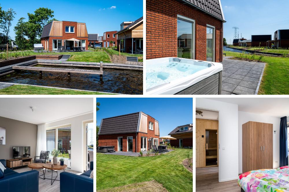 huisje met jacuzzi buiten en sauna Friesland