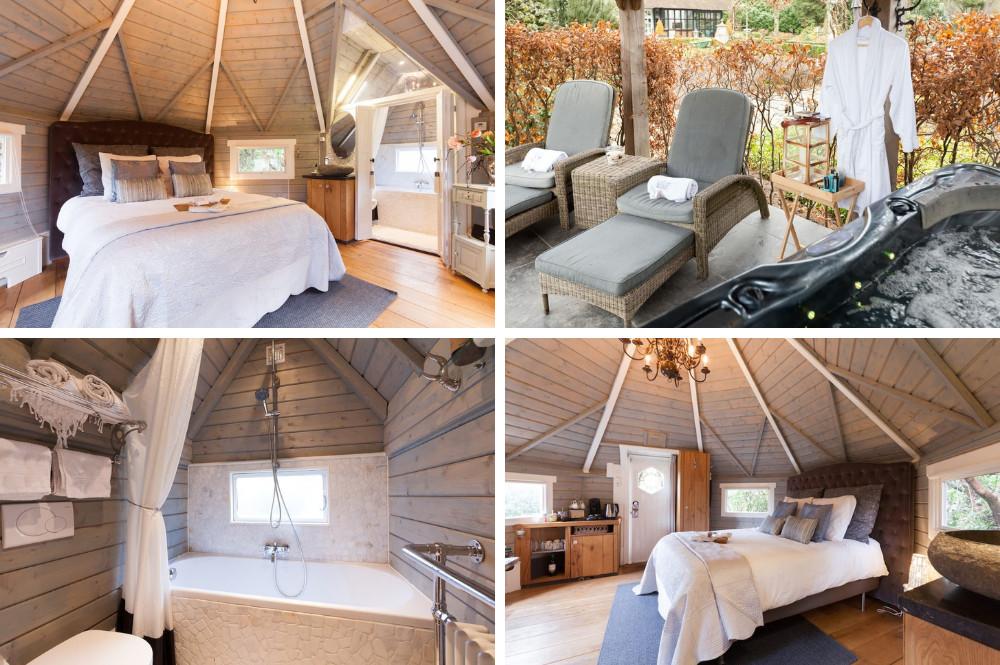 Bijzondere airbnb met bubbelbad buiten in Gelderland