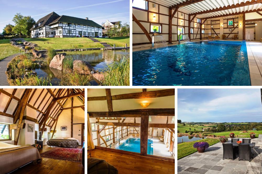 Vakantiewoning met binnenzwembad en bubbelbad - Zuid Limburg