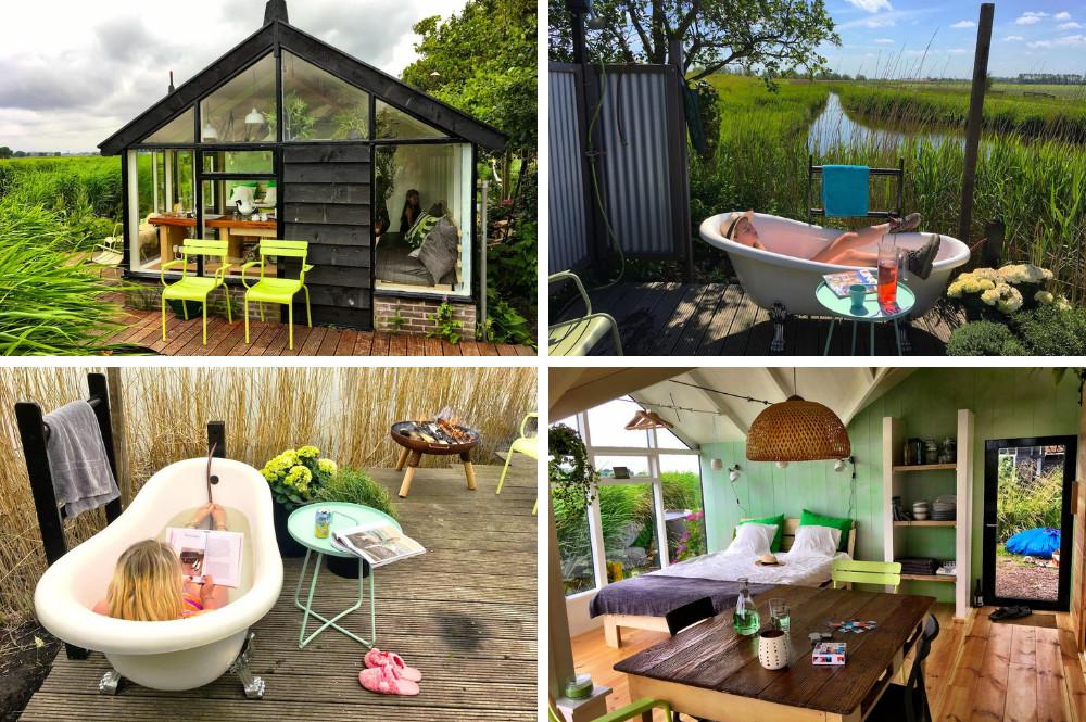 Airbnb met bad buiten
