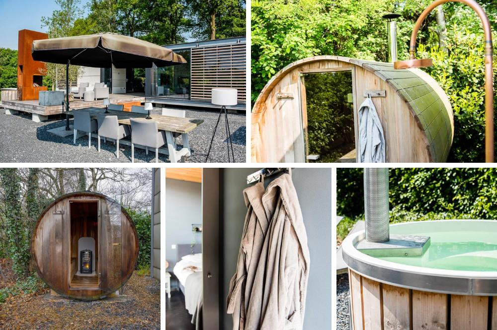 Airbnb met hottub en sauna
