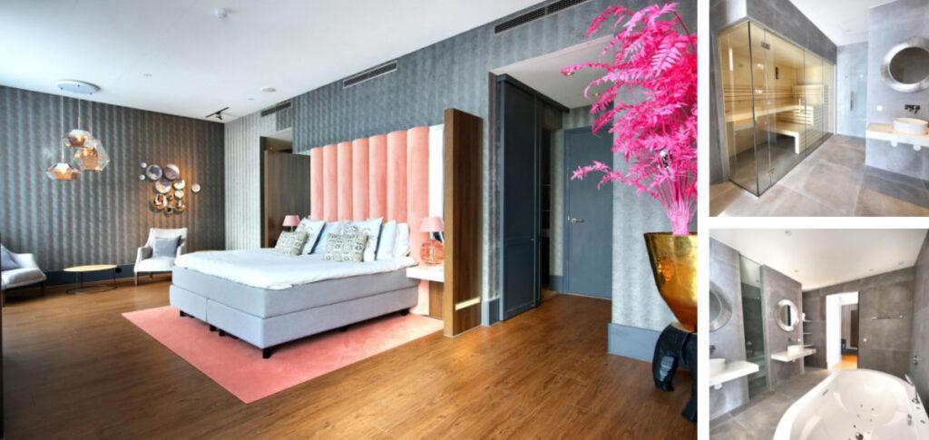 Hotelkamer met sauna en bad in Den Haag