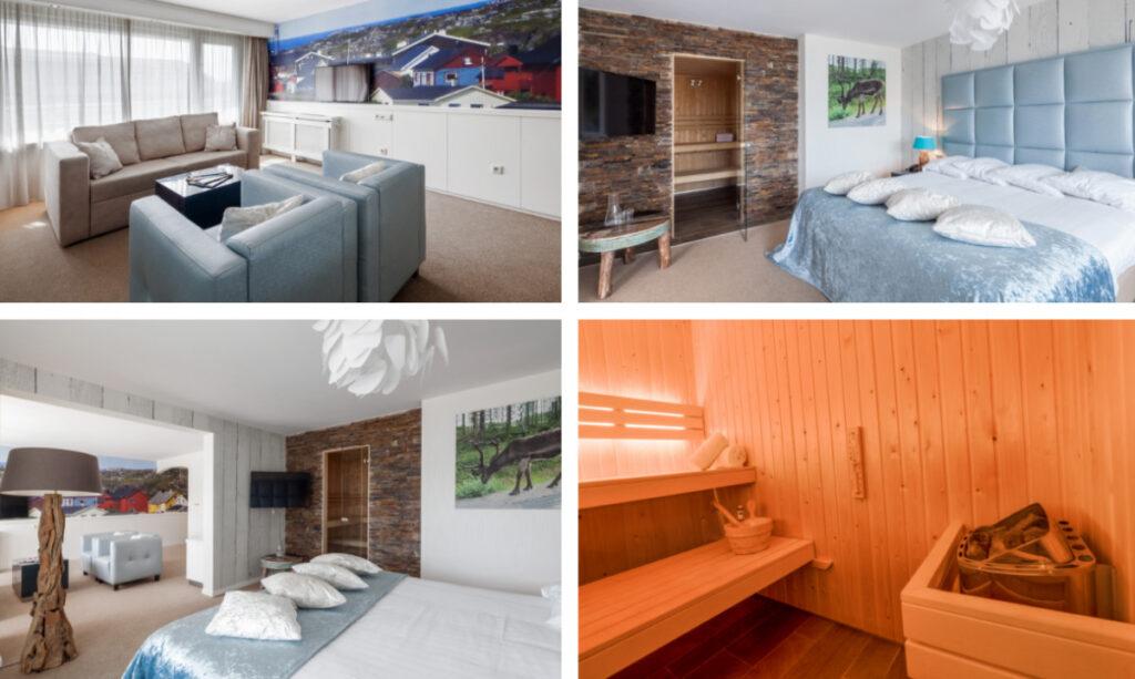 Hotelkamer met sauna in Drenthe