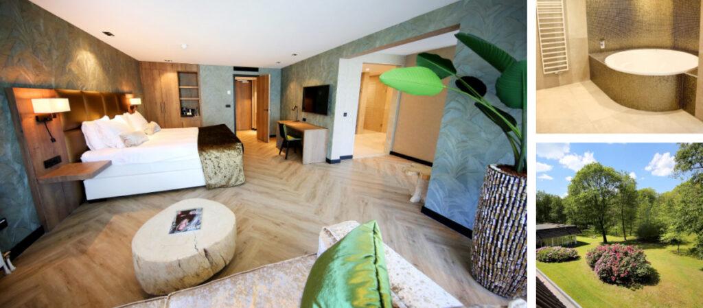 Hotelkamer met sauna en bad Drenthe