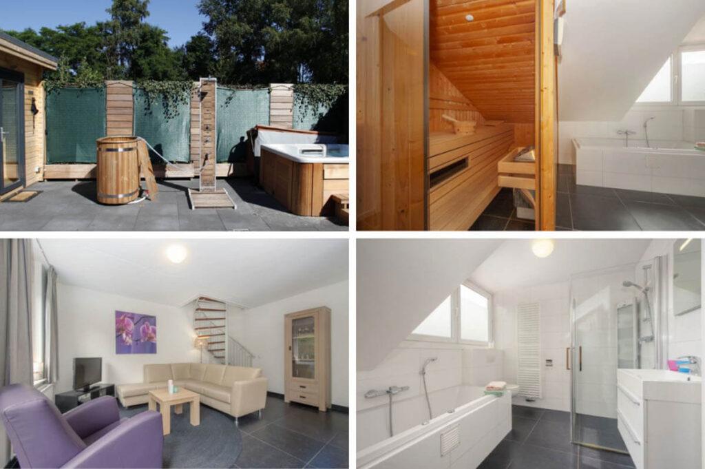 Wellness huisje met bubbelbad en sauna - Roompot Resort Arcen
