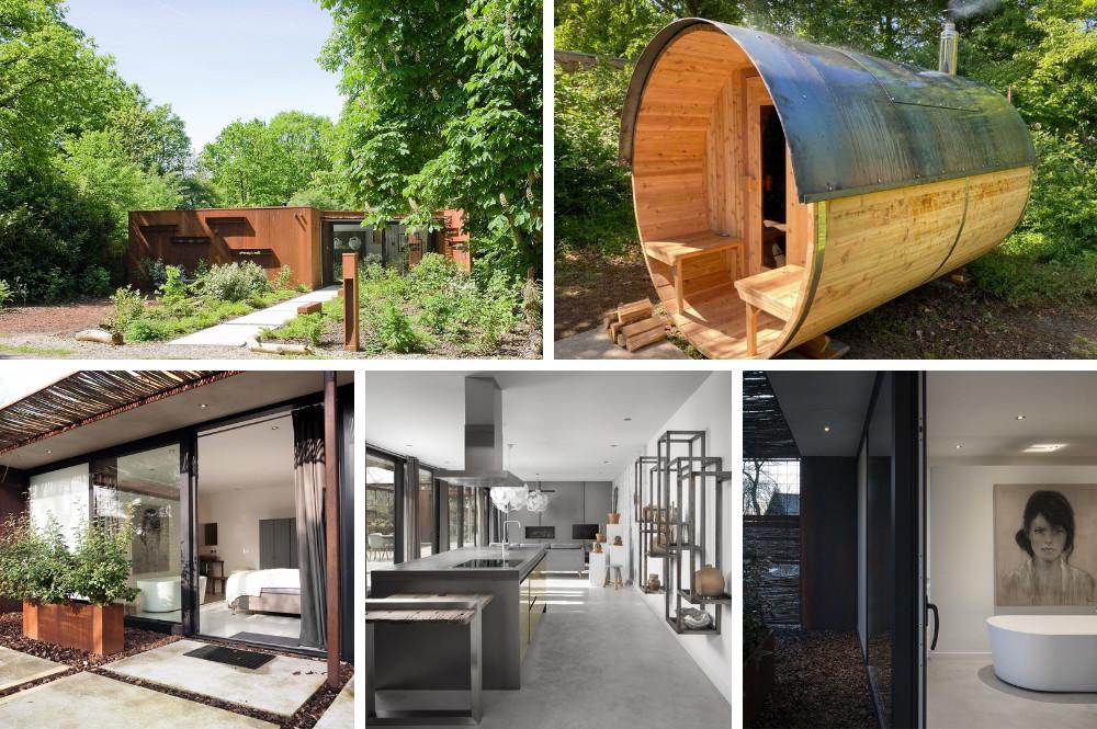 Natuurhuisje met sauna buiten