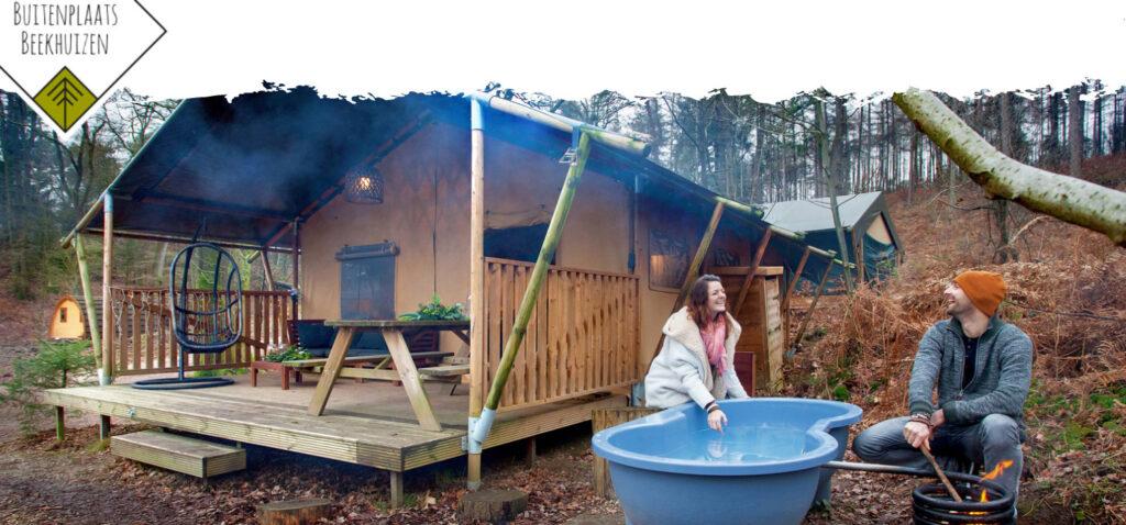 Tiny House lodgetent met wellness - Buitenplaats Beekhuizen