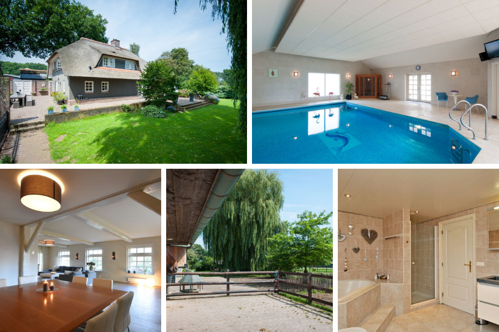 Vakantiehuis met binnenzwembad en sauna