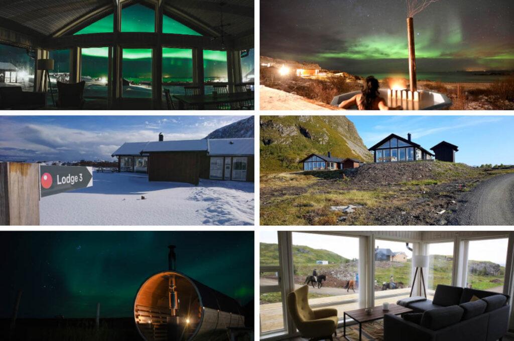 Lodges Hov Gård met sauna & hottub - Lofoten - Noorwegen