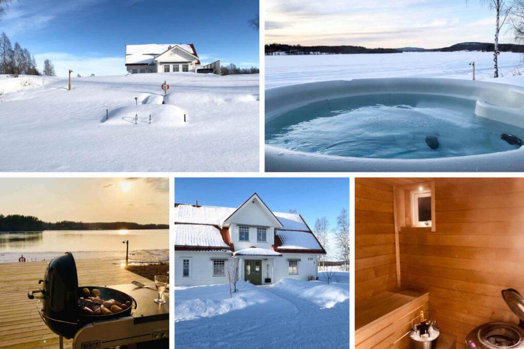 Airbnb met Finse sauna en jacuzzi buiten - Boden - Zweeds Lapland